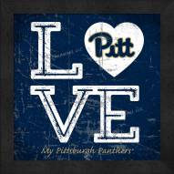 Pittsburgh Panthers Love My Team Color Wall Decor