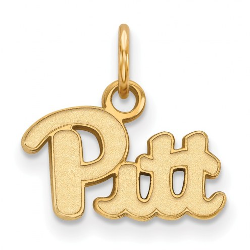 Pittsburgh Panthers NCAA Sterling Silver Gold Plated Extra Small Pendant