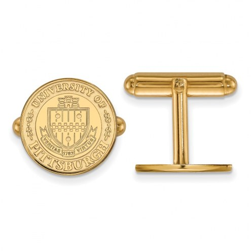 Pittsburgh Panthers Sterling Silver Gold Plated Cuff Links
