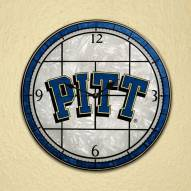 Pittsburgh Panthers NCAA Stained Glass Wall Clock