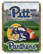 Pittsburgh Panthers NCAA Woven Tapestry Throw / Blanket