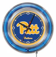 Pittsburgh Panthers Neon Clock
