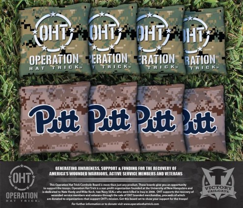 Pittsburgh Panthers Operation Hat Trick Cornhole Bag Set