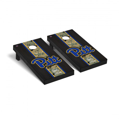 Pittsburgh Panthers Operation Hat Trick Stained Cornhole Game Set