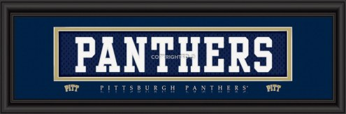 "Pittsburgh Panthers ""Panthers"" Stitched Jersey Framed Print"