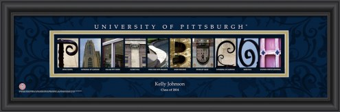Pittsburgh Panthers Personalized Campus Letter Art