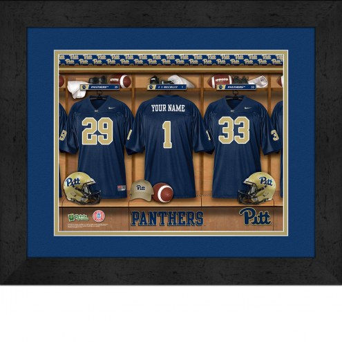 Pittsburgh Panthers Personalized Locker Room 13 x 16 Framed Photograph