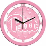 Pittsburgh Panthers Pink Wall Clock