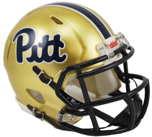 Pittsburgh Panthers Riddell Speed Mini Collectible Script Football Helmet