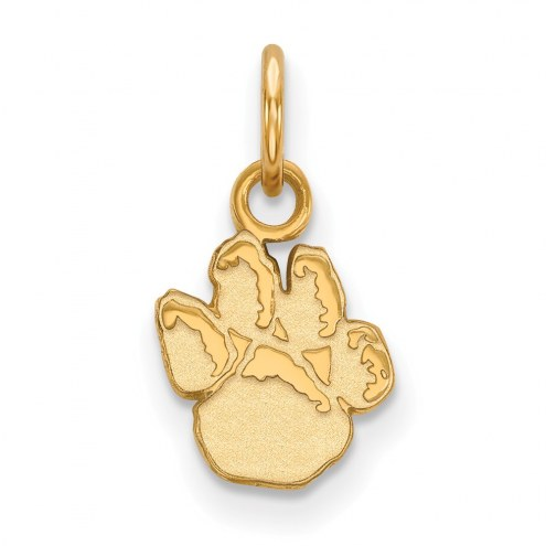 Pittsburgh Panthers Sterling Silver Gold Plated Extra Small Pendant
