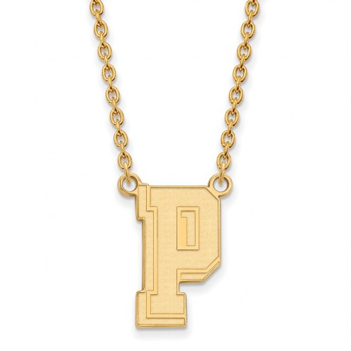 Pittsburgh Panthers Sterling Silver Gold Plated Large Pendant Necklace