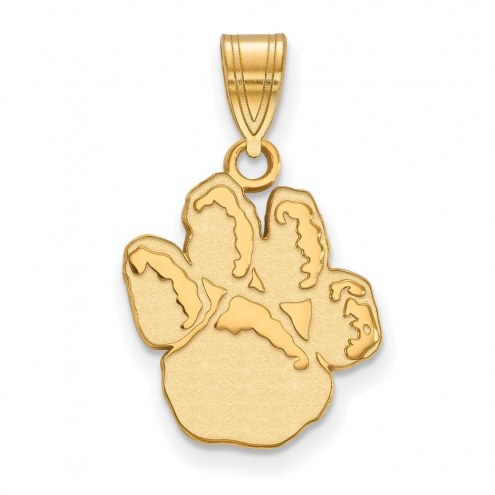 Pittsburgh Panthers Sterling Silver Gold Plated Medium Pendant