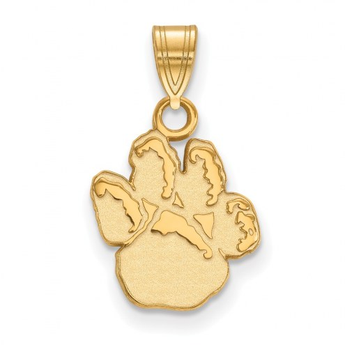 Pittsburgh Panthers Sterling Silver Gold Plated Small Pendant