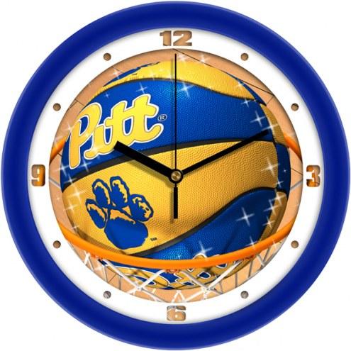 Pittsburgh Panthers Slam Dunk Wall Clock