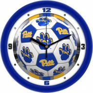 Pittsburgh Panthers Soccer Wall Clock
