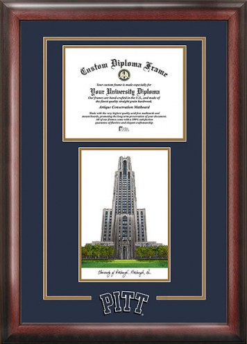 Pittsburgh Panthers Spirit Diploma Frame with Campus Image
