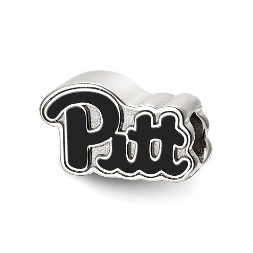 Pittsburgh Panthers Sterling Silver Enameled Bead