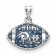 Pittsburgh Panthers Sterling Silver Enameled Football Pendant