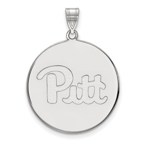 Pittsburgh Panthers Sterling Silver Extra Large Disc Pendant