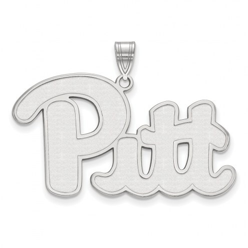 Pittsburgh Panthers Sterling Silver Extra Large Pendant