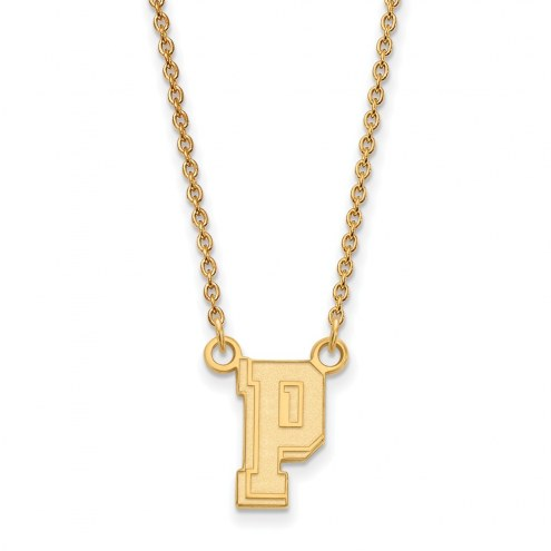 Pittsburgh Panthers Sterling Silver Gold Plated Small Pendant Necklace