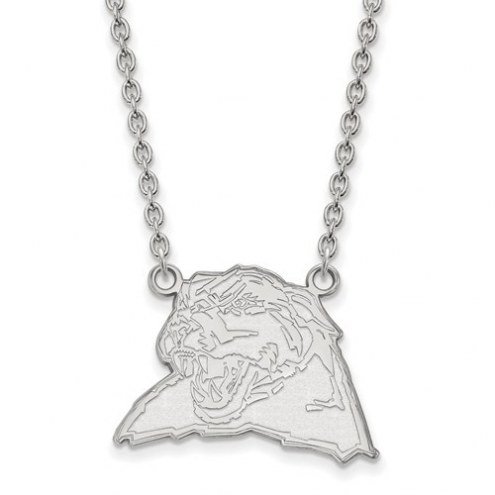 Pittsburgh Panthers Sterling Silver Large Pendant with Necklace