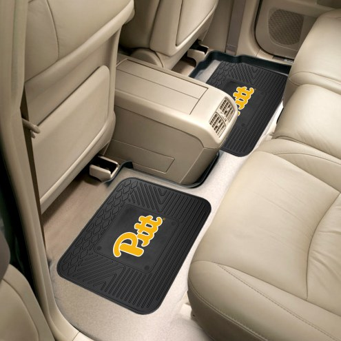 Pittsburgh Panthers Vinyl 2-Piece Rear Floor Mats