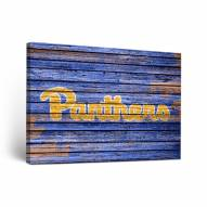 Pittsburgh Panthers Weathered Canvas Wall Art