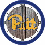 Pittsburgh Panthers Weathered Wood Wall Clock