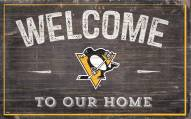 """Pittsburgh Penguins 11"""" x 19"""" Welcome to Our Home Sign"""