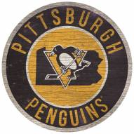 """Pittsburgh Penguins 12"""" Circle with State Sign"""