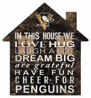 """Pittsburgh Penguins 12"""" House Sign"""