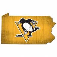 "Pittsburgh Penguins 12"" Team Color Logo State Sign"