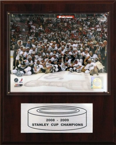 "Pittsburgh Penguins 12"" x 15"" 2009 Stanley Cup Celebration Plaque"