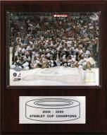 "Pittsburgh Penguins 12"" x 15"" 2009 Stanley Cup Celebration Plaque"