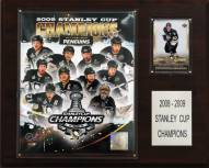 """Pittsburgh Penguins 12"""" x 15"""" 2009 Stanley Cup Champions Plaque"""