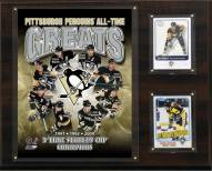 """Pittsburgh Penguins 12"""" x 15"""" All-Time Greats Photo Plaque"""