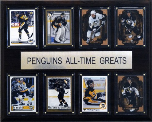 "Pittsburgh Penguins 12"" x 15"" All-Time Greats Plaque"