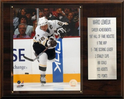 "Pittsburgh Penguins 12"" x 15"" Mario Lemieux Career Stat Plaque"