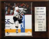"""Pittsburgh Penguins 12"""" x 15"""" Mario Lemieux Career Stat Plaque"""