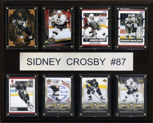 "Pittsburgh Penguins 12"" x 15"" Sidney Crosby 8 Card Plaque"