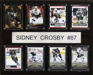 """Pittsburgh Penguins 12"""" x 15"""" Sidney Crosby 8 Card Plaque"""