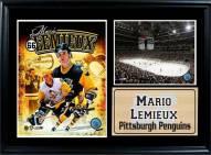 "Pittsburgh Penguins 12"" x 18"" Mario Lemieux Photo Stat Frame"