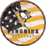 """Pittsburgh Penguins 16"""" Flag Barrel Top"""