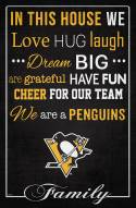 """Pittsburgh Penguins 17"""" x 26"""" In This House Sign"""