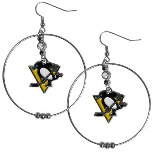 """Pittsburgh Penguins 2"""" Hoop Earrings"""