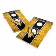 Pittsburgh Penguins 2' x 3' Vintage Wood Cornhole Game