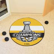 Pittsburgh Penguins 2017 Stanley Cup Champs Hockey Puck Mat