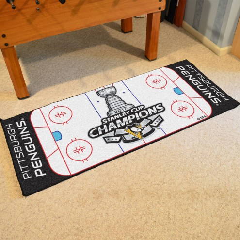 Pittsburgh Penguins 2017 Stanley Cup Champs Hockey Runner Rug