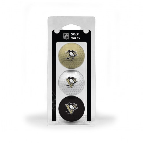 Pittsburgh Penguins 3 Pack of Golf Balls